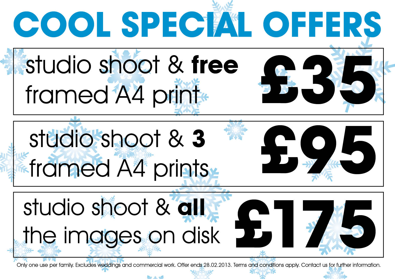 Portrait Photography Price Packages 2014