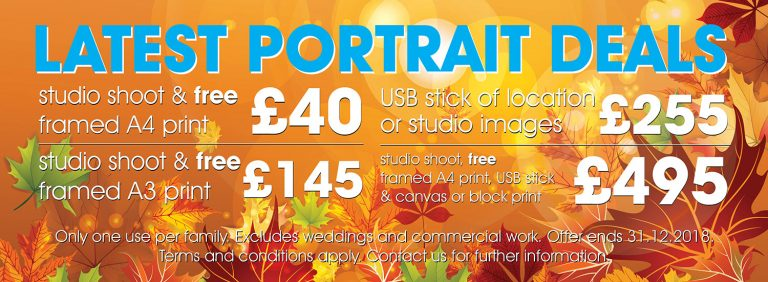 Portrait Photography Price Packages 2018