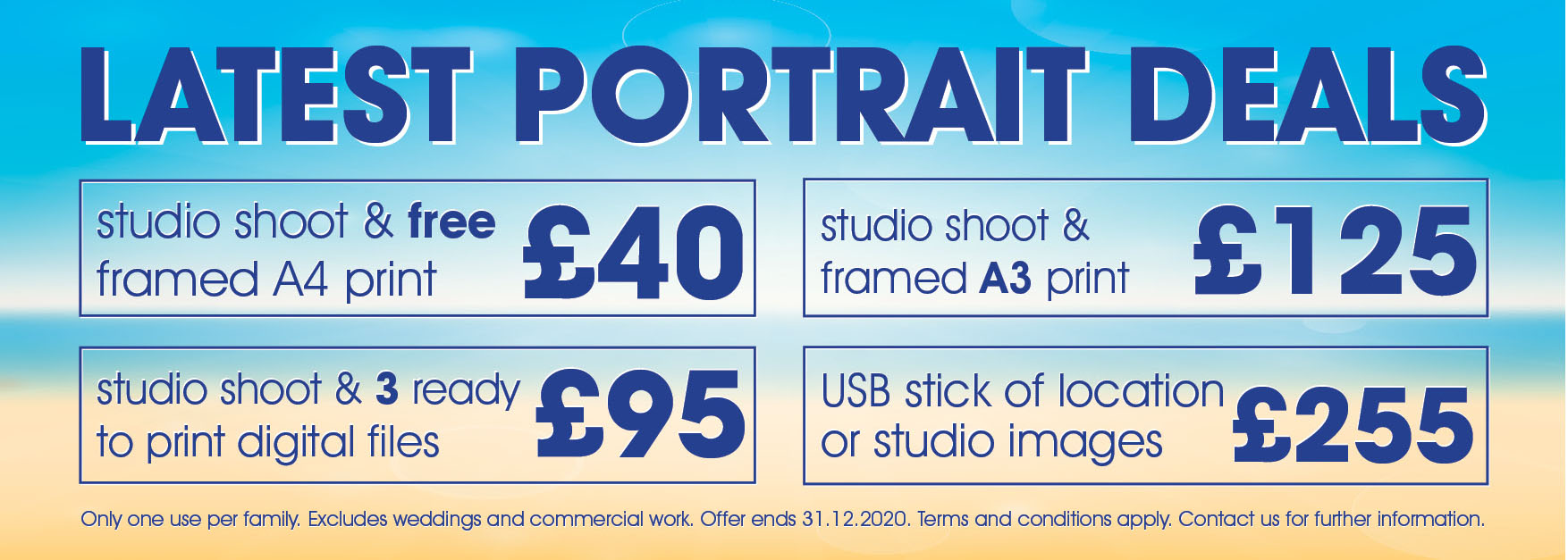 Portrait Photography Price Packages 2021